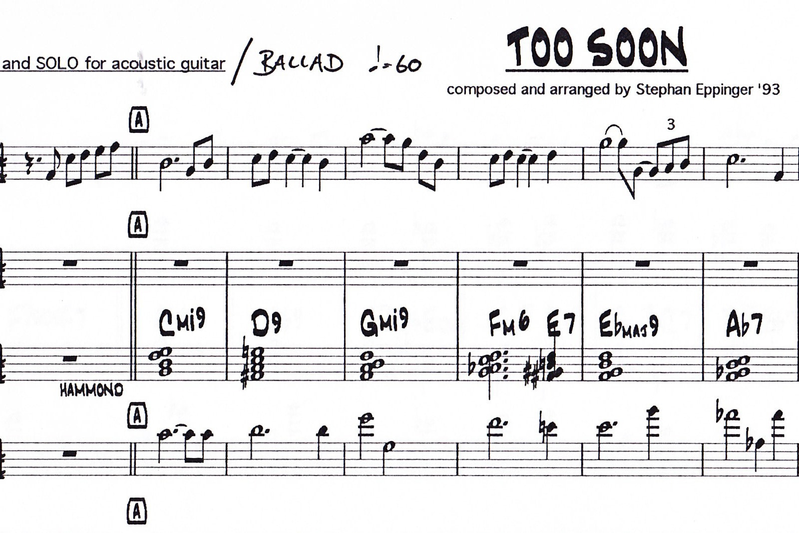instrumental 'too soon'